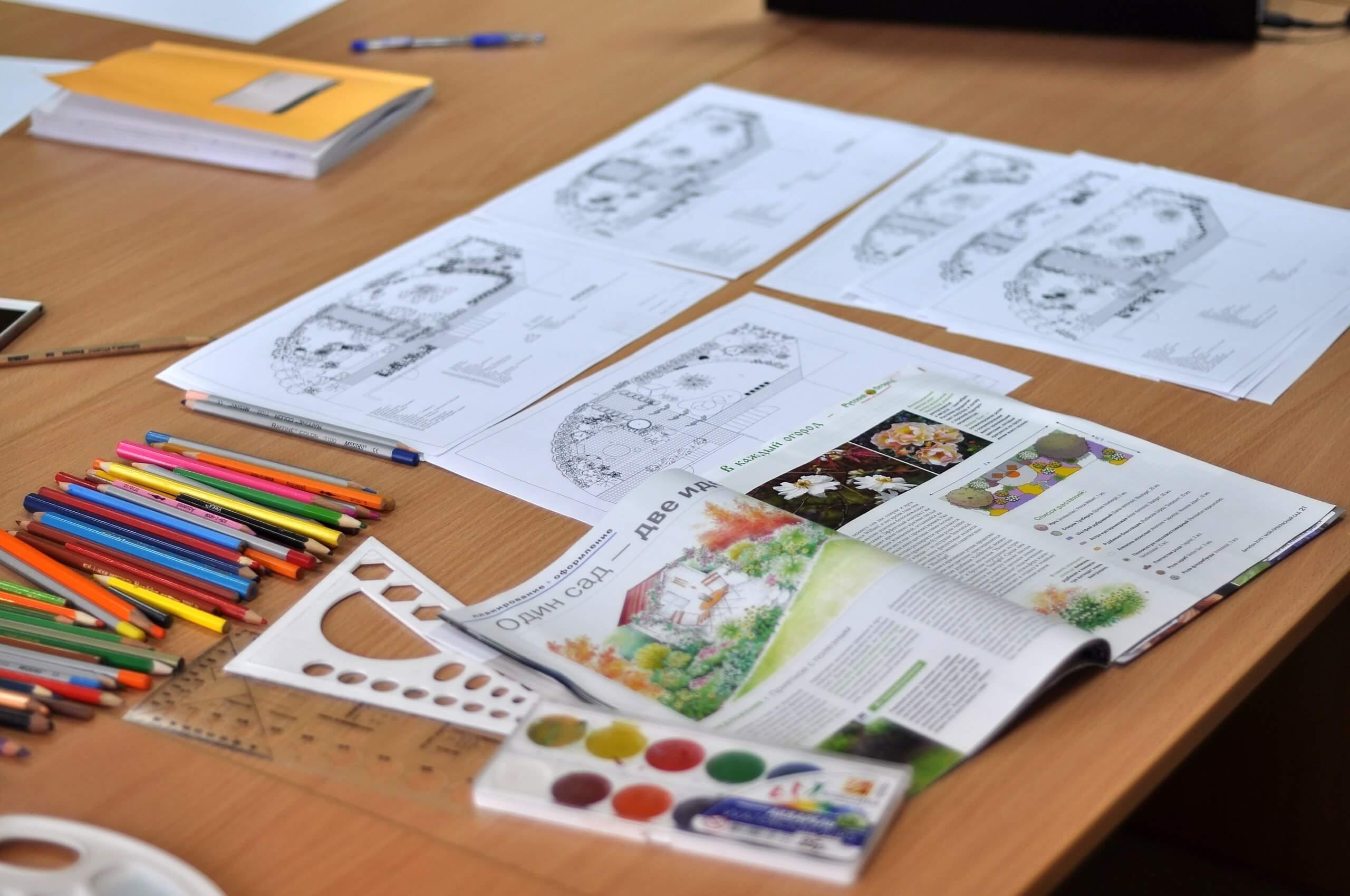 Ландшафтный дизайн. Изучаем виды подачи чертежей.