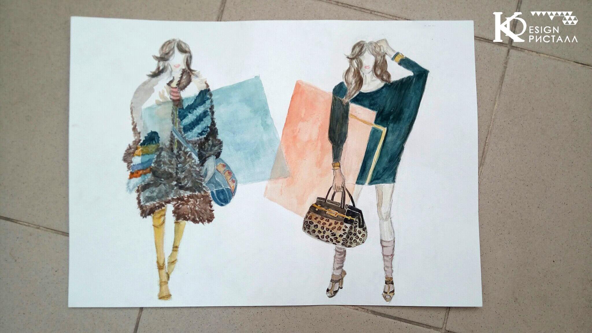Дизайн одежды. Цвет в костюме.