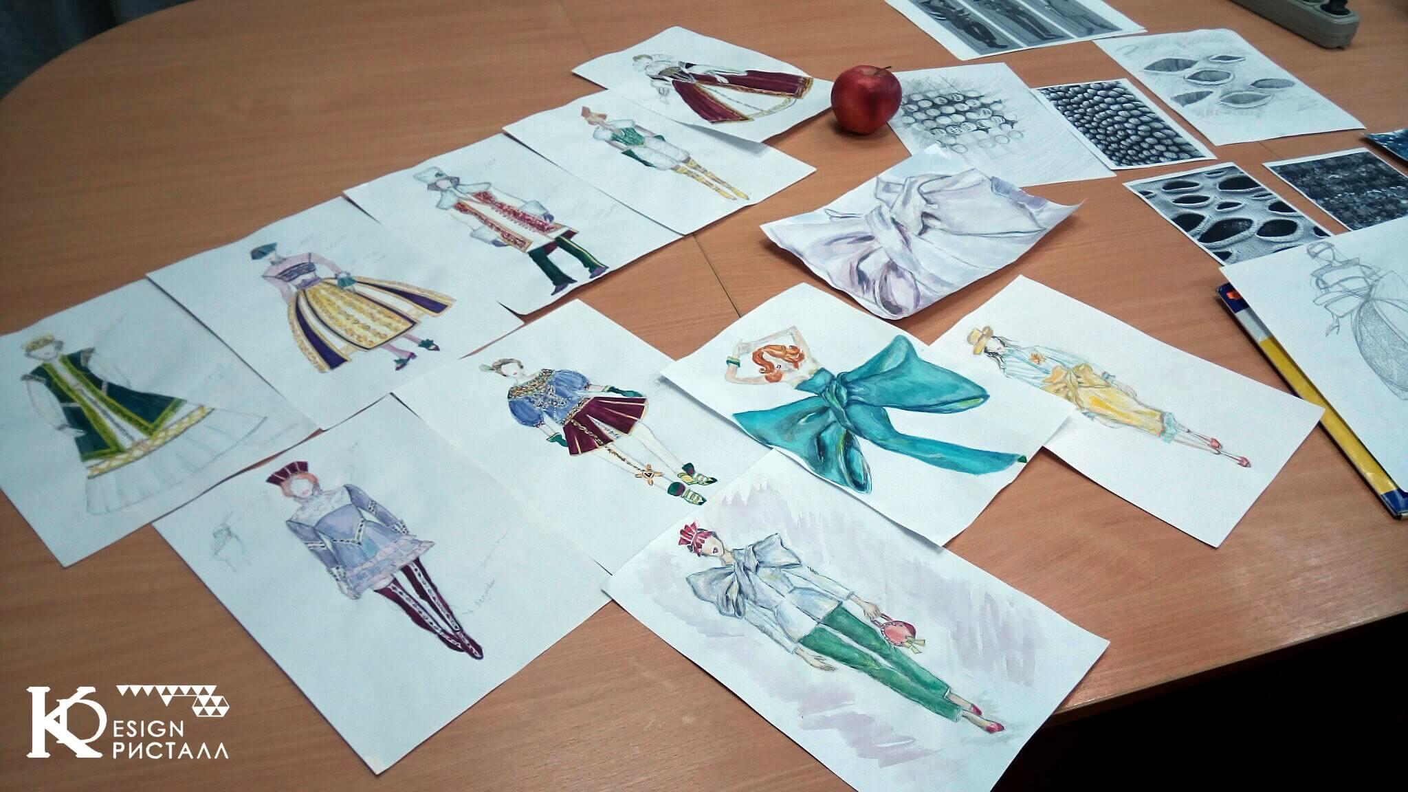 Дизайн одежды. От вдохновения к финальным эскизам.