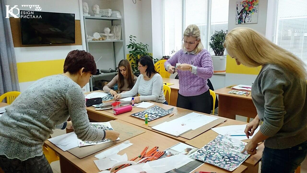 Дизайн одежды. Подготовка акварельной фактуры - подложки.